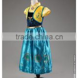New! 2-8T little girl frozen princess halloween costume wholesale baby girl cosplay costume (Ulik-A0140)