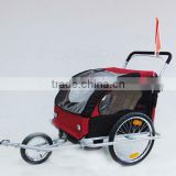 Baby trailer with stroller function