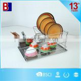 2 Tiers with S/S Tayer Metal Wire Dish Drainer
