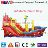 Used water slide boat,commercial cheap inflatable pirate ship for sale