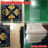 euro slot header bags, Self seal plastic cello bags, mouse mat packing retail display bags