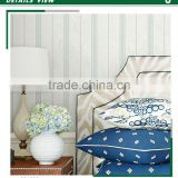 affordable foaming non woven wallpaper, pastoral vertical stripe baby room wallpaper , decorative wall mural dealer