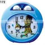plastic bell-shaped alarm clock, analog melody music desktop clock, electron bell table alarm clock