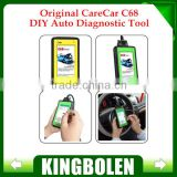 Original CareCar C68 Retail DIY Car Diagnostic Tool Same Function as Launch X431 Diagun Update software via internet