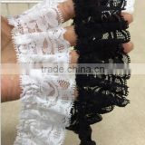DIY vintage ruffle lace for dress,bridal lace trim fashion garment accessories                                                                         Quality Choice