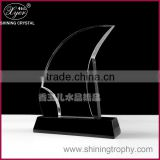 blank glass crystal awards plaque