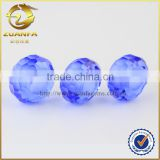 wholesale crystal bead with hole drilled blue colored beads for jewelry making                                                                                                         Supplier's Choice