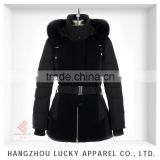 european style lady fashion real fur winter duck down feather jacket LK15034