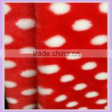 red and white acrylic polyester jacquard faux fur trim artificial fur fabric real fur stuffed animals china factory