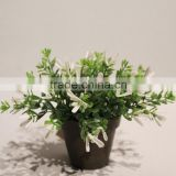 Plastic Artificial Potted Grass Bonsai Plants for Festive Decor