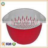 High Quality Plastic Sink Collapsible Pasta Colander SGS/FDA approval