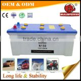high cca truck car maintenance free dry battery 12v 150ah with price