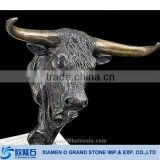 Animal Black marble bust marble bull large animal statue