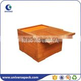 Different kinds of pine wood gift box with slide lid                                                                                                         Supplier's Choice