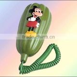 Basic corded telephone, very cute and lovely, nice present, portable and economical, best telecommunication products.