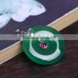 wholesale 2015 Natural Chrysoprase Ping buckle sterling silver pendants jewelry for necklace