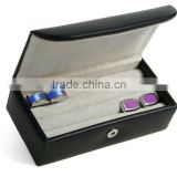 Fashion Leather Wholesale Cuff Link Gift Box