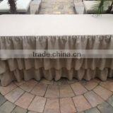 Tulle Banquet Ruffled Table Skirting