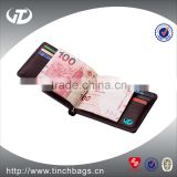 Guang zhou factory wholesale money clip wallet leather