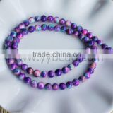 Factory Wholesale 6MM Colorful Glass Round Beads Loose Spacer Beads Strand DIY Jewelry Findings