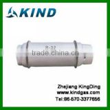 Industrial grade high quality 400L big cylinder packing HFC R32 refrigerant gas for sale