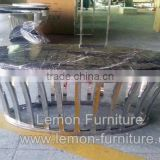 travertine marble coffee table for sale from China foshan factory