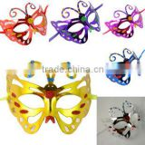 Classics colorful pvc plastic butterfly mask ,festive party mask girl fancy dress party mask