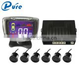 Car Reverse Radar Rearview system 6 Sensors Numeral and Color LCD Display Parking Sensor