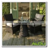 Audu NEW BISTRO 2-4-6 SEATER RATTAN WICKER DINING OUTDOOR GARDEN FURNITURE SET