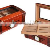 Wooden Cigar Humidor Hold 100 Cigars High Gross Finish