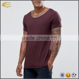 2017 NEW factory oem mens tshirt wholesale blank t-shirt plain burgundy fitness t-shirts