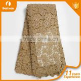 High quality lace fabric mesh embroidery guipure cord lace cupion CP0145 african cord lace for wedding dress