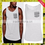 2017 hotsale fashion wholesale custom stringer fitness sports tank top mens gym sports wear man knitted pocket vest