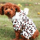Wholesale custom leopard print flannel dog clothes