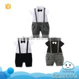 wholesale baby clothes 2016 western kids wear suspender set summer boys infant short cotton baby1 set newborn clothes