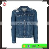 Fashion model custom 100% cotton jean jackets men wholesale Fitting Cropped fancy Denim Jackets