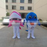 Manlian factory big shark cartoon character mascot costumes with good view