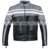 HMB-0412B LEATHER MOTORBIKE JACKETS MOTORCYCLE BIKER COATS