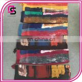 wholesale Fashion ladies bright color tie dye hijab scarf with tassels