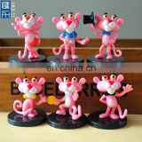 lovely tiny pink lion promotional toys for kids, little cartoon lion small plastic toy figure for kids promotion