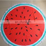 Hot sale good quality cotton watermelon beach towel from factory