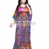 Women's MultiColour Casual Wear 3D digital Printed Kaftan / Party wear Printed Kaftan / Night Wear Kurta (kaftans 2017)