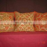 Wholesale cotton beads and embroidered work cushion cover 40 x 40