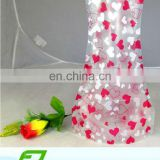 foldable pvc plastic fish bowls,fish jar ,flower jar