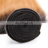 Two tone ombre human hair weave color 1b 27 hair weft for sewing in