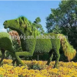 Large outdoor usage artificial topiary animal horse shape