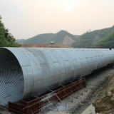 Corrugated steel drainage pipe  metal corrugated culvert pipe
