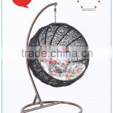Modern UV resistant and waterproof Outdoor Furniture and Wood Material PE rattan swing chair PRC14845