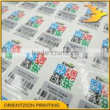 e.g. hologram, micro text, UV light, heat sensitive security label sticker