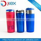 2015 New product 16oz double wall stainless steel straw tumbler, noverty style straw travel mug